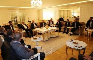 هنية يلتقي رئيس لجنة الصداقة التركية الفلسطينية ونوابًا أتراكًا في أسطنبول