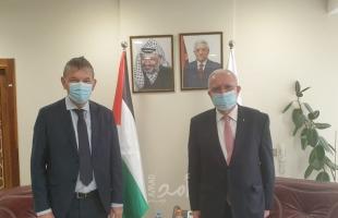 """المالكي يستقبل المفوض العام لـ""""الأونروا"""" فيليب لازاريني"""