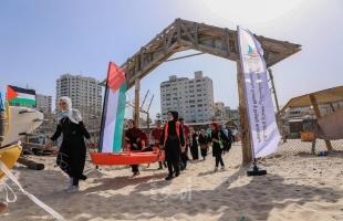 بلدية غزة تنفذ نشاطًا بحريًا لفريق تميز الطلابي