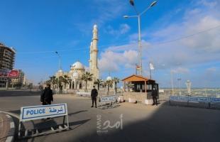 بدء سريان الإغلاق الجزئي ومنع حركة المركبات في قطاع غزة- صور
