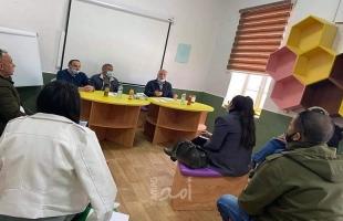 مركز حماية وتنمية الطفولة والتوجيه السياسي ينظمان محاضرة  لطلاب التدريب الميداني