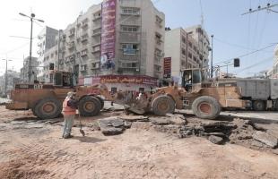بلدية غزة تشرع بعمل صيانة شاملة لمفترق أبو طلال
