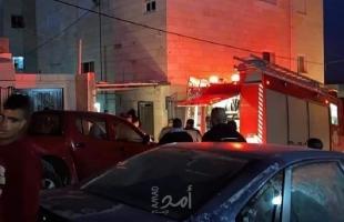 نابلس: مجهولون يحرقون مركبة في مخيم بلاطة