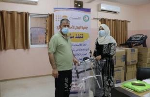 """غزة: """"الهلال الأحمر"""" يوزيع أدوات مساعدة  للنساء والفتيات من ذوات الاعاقة كاستحابة عاجلة"""