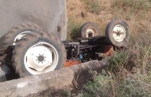 نابلس: وفاة مزارع بانقلاب جراره الزراعي