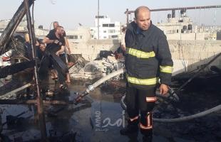 طواقم الدفاع المدني تخمد حريق اندلع في غرفة بمنزل شمال قطاع غزة