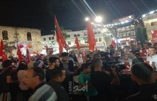 الديمقراطية تنظم مسيرة حاشدة لمناسبة عيد العمال العالمي ورفضا لتأجيل الانتخابات بنابلس