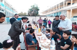 الدائرة السياسية لمنظمة التحرير تقيم مأدبة افطار للاطفال المتواجدين في معهد فلسطين