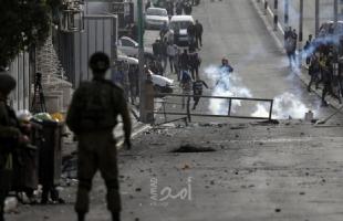"""""""الهلال الأحمر """": 293 إصابة خلال المواجهات في بلدتي بيتا وبيت دجن قضاء نابلس"""