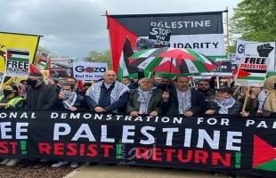 مظاهرات في عدد من دول العالم تضامنًا مع الشعب الفلسطيني
