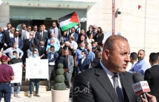 اعتصام لنقابة المحامين رفضا لاستمرار العدوان الاسرائيلي