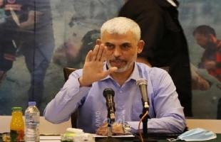 السنوار: يوجد استحقاق فلسطيني لترتيب البيت الداخلي وإعادة هيكلية منظمة التحرير