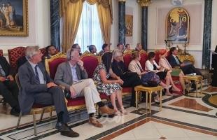 البطريرك ثيوفيلوس يستقبل ممثل الاتحاد الأوروبي للسلام وسفراء دول اوروبية
