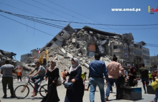 عمل الطواقم الهندسية والفنية المصرية لازالة ركام المباني المدمرة في غزة