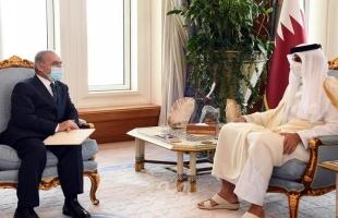 اشتية يدعو أمير قطر لطرح مسار سياسي من أجل تطبيق قرارات الشرعية الدولية - صور