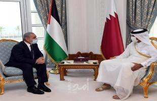 اشتية يؤكد أهمية تعزيز الصادرات الفلسطينية للسوق القطري وزيادة أعداد المعلمين في قطر