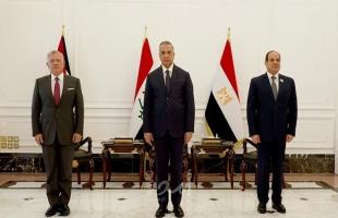 """""""السيسى"""": نسعى لتجسيد التعاون الثلاثى وتنفيذه على أرض الواقع..وفلسطين قضية العرب المركزية"""