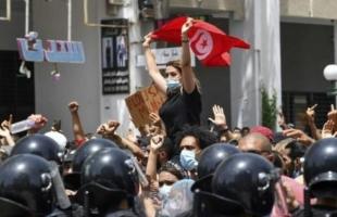 """مظاهرات حاشدة في تونس مناهضة لحكومة المشيشي ولحركة """"النهضة"""" - فيديو"""