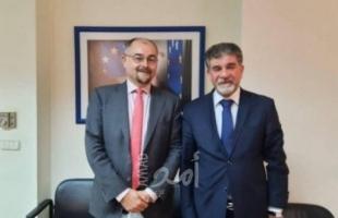 عبد الهادي يطلع سفير بعثة الاتحاد الأوروبي على الأوضاع في فلسطين