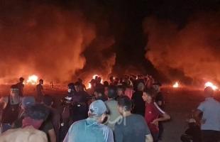 """اصابات نتيجة إطلاق قوات الاحتلال """"قنابل الغاز والرصاص"""" تجاه شبان شرق غزة- فيديو و صور"""