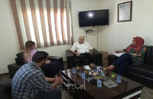 أبو العينين يلتقي ممثلة المنظمة الألمانية الدولية للتنمية والسلام