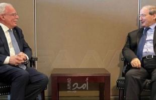 """المالكي يُؤكد لـ""""المقداد"""": ضرورة العمل مع المجتمع الدولي لحماية الشعب الفلسطيني"""