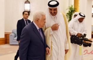 بعد 24 ساعة من وصوله...تميم يلتقي عباس على مأدبة افطار