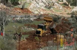 سلطات الاحتلال تجرف 22 دونماً زراعية في منطقة كريمزان شمال بيت جالا