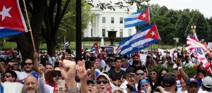 """مظاهرات في واشنطن تطالب بـ""""حرية كوبا"""""""