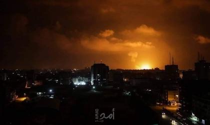 محدث_طائرات الاحتلال تشن سلسلة غارات على أهداف في قطاع غزة