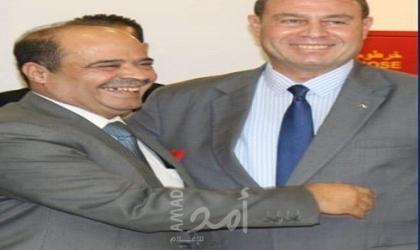 السفير دياب اللوح يستقبل وفد وزارة الإعلام الفلسطينية بالقاهرة