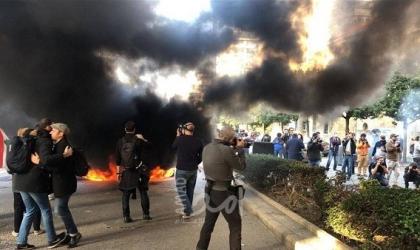 إصابة 145 شخصاً خلال اشتباكات بين المتظاهرين وقوات الأمن في لبنان