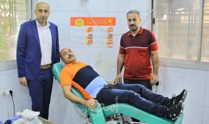"""إصلاحي فتح ينظم حملة """"تبرع بالدم"""" لمرضى السرطان في غزة"""