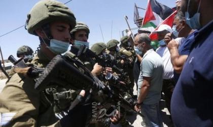 محدث2.. عدد من الإصابات خلال مواجهات مع قوات الاحتلال بمسيرات ضد الضم في الضفة