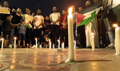 غزة: وقفات تضامنية وتنكيس للأعلام وإضاءة شموع حداداً على أرواح ضحايا مرفأ بيروت- فيديو وصور