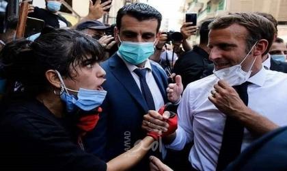 """فنانون وإعلاميون لبنانيون: """"ماكرون"""" محروق قلبه على بيروت أكثر من الرئيس عون"""