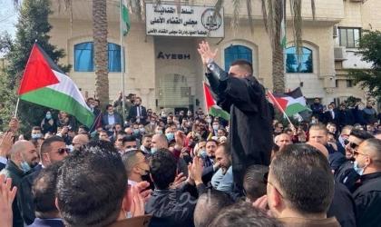 رام الله: وقفة احتجاجية للمحامين أمام مجلس القضاء الأعلى - صور