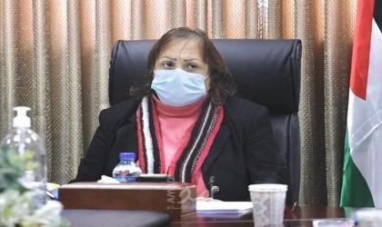 """في ظل إزدياد حالات """"كورونا"""" .. الكيلة تتفقد مجمع فلسطين الطبي وتعود المرضى"""