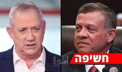 """""""يديعوت"""": ملك الأردن التقى """"سرّا"""" بوزير الجيش الإسرائيلي غانتس"""