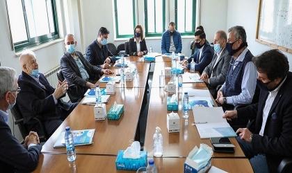 رئيس لجنة الانتخابات يستقبل وفدًا رقابيًا أردنيًا