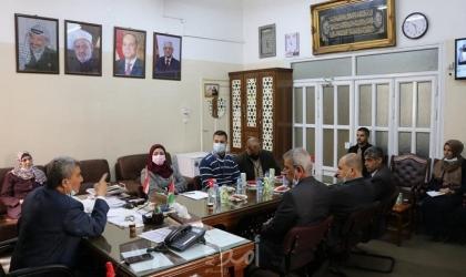 """""""المعاهد الأزهرية """" تستقبل الفريق الوطني لإعادة إعمار غزة"""
