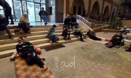 غزة: موظفو العقود يواصلون إضرابهم المفتوح  لليوم الـ(5) على التوالي- صور