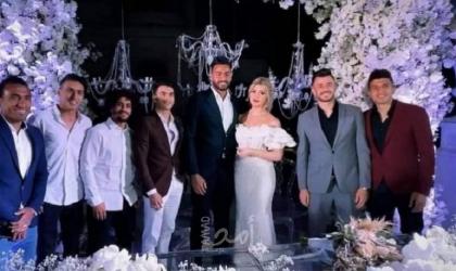 حارس مرمى الزمالك أبو جبل يحتفل بعقد قرانه على ملكة جمال الجزائر- فيديو وصور