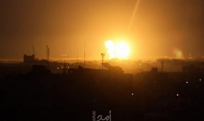محدث - جيش الاحتلال يشن سلسلة غارات على قطاع غزة