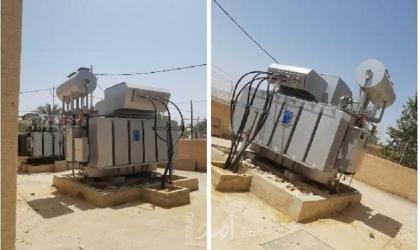 """""""كهرباء القدس"""" تركب محولاً جديداً في محطة المقاطعة الرئيسية في أريحا"""