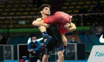 مصارع فلسطيني يتربع على عرش المصارعة الحرة