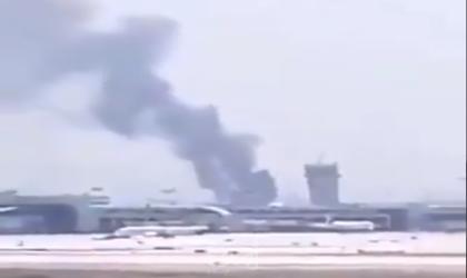 """إعلام عبري: حريق قرب مطار """"بن غوريون"""" وإخلاء المنازل المجاورة - فيديو"""