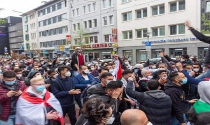 مظاهرةفي ألمانيا دعمًا للشعب الفلسطيني واستنكارًا للعدوان الإسرائيليعلىغزة
