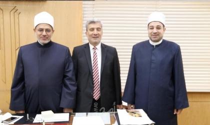 """""""الوزير النجار"""" يلتقي رئيس قطاع المعاهد ورئيس الإدارة المركزية للامتحانات في معهد الأزهر"""