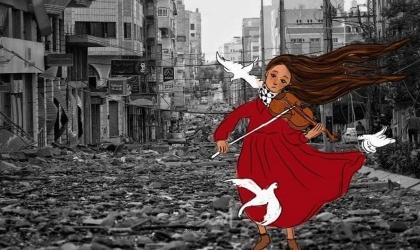 ألاء الجعبري.. فنانة تفضح جرائم الاحتلال بالشخصيات الكرتونية - صور